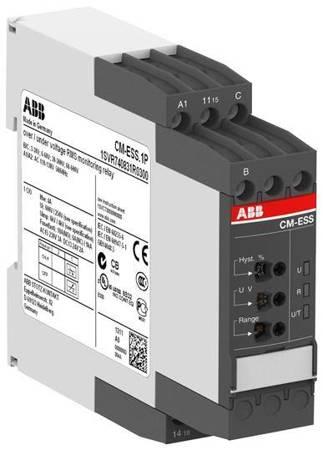 ABB Przekaźnik monitorujący CM-ESS.1S, wyjście przekaźnika: 1NO (SPDT) B-C=3-600VRMS, 220-240VAC