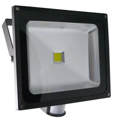 Naświetlacz z czujnikiem ruchu ABILITE IP66 biały zimny 50W 230V 2000lm obudowa płaska czarna