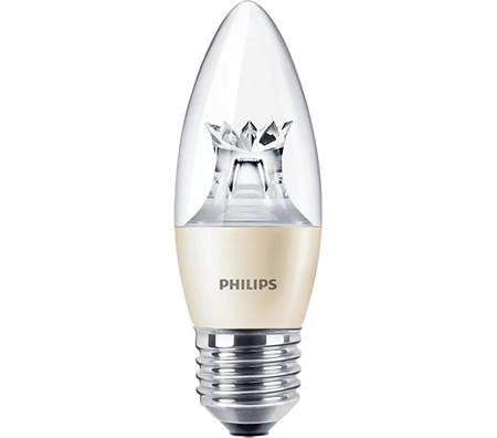 Żarówka LED Philips MASTER LEDcandle 6-40W E27 827 470lm Dimmable B38 Clear